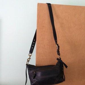 Coach pebbled leather handbag